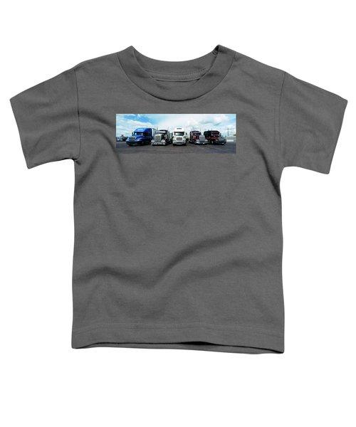 Eighteen Wheeler Vehicles On The Road Toddler T-Shirt