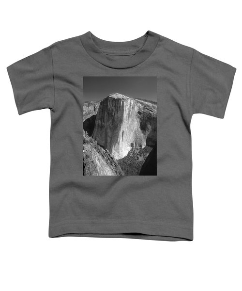 106663-el Capitan From Higher Cathedral Spire, Bw Toddler T-Shirt