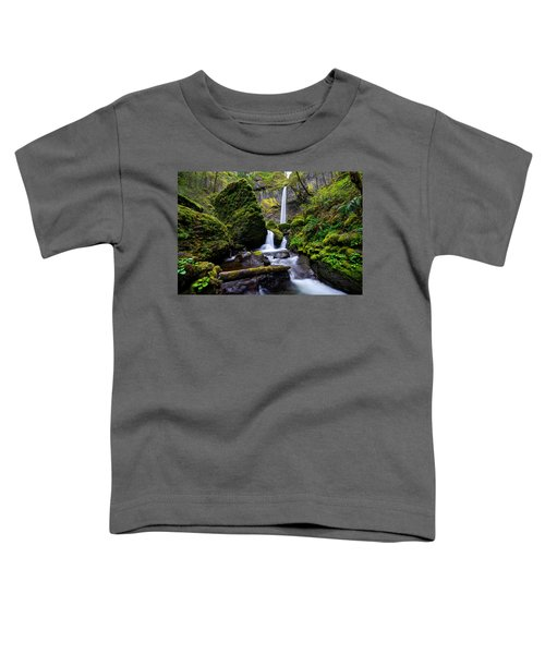 Toddler T-Shirt featuring the photograph Elowah Falls by Dustin  LeFevre