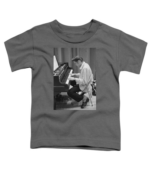 Elvis Presley On Piano While Waiting For A Show To Start 1956 Toddler T-Shirt