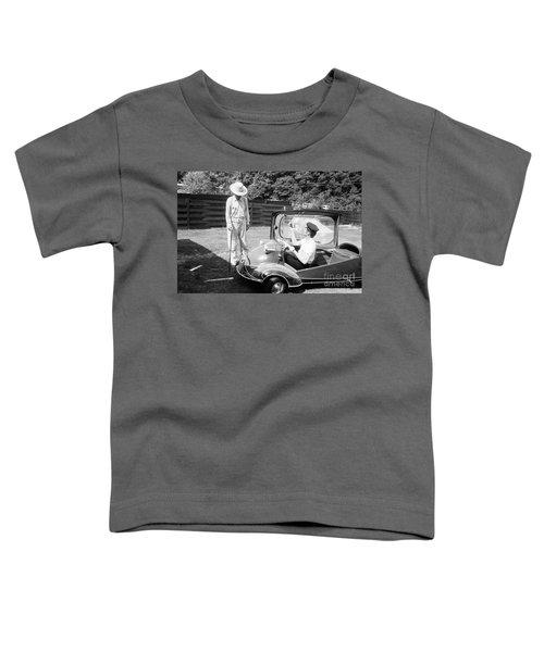 Elvis With His Messerschmitt Microcar 1956 Toddler T-Shirt