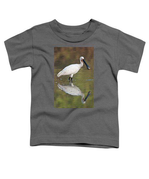 Eurasian Spoonbill Platalea Leucorodia Toddler T-Shirt