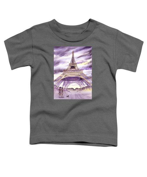 Evening In Paris A Walk To The Eiffel Tower Toddler T-Shirt