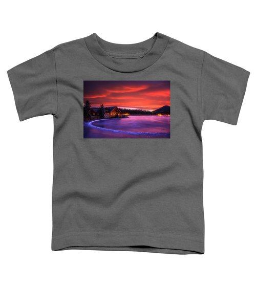 Evergreen Lake Sunrise Toddler T-Shirt