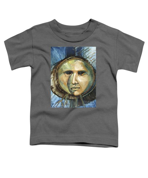 Faced With Blue Toddler T-Shirt