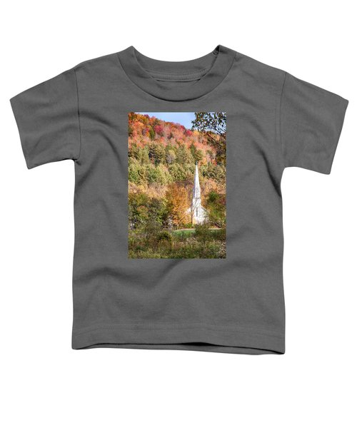 Fall Colors Over Vermont Church Toddler T-Shirt