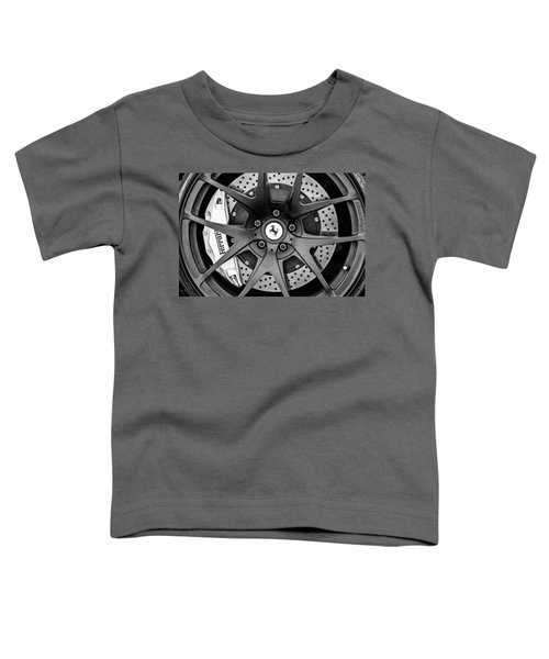 Ferrari Wheel Emblem - Brake Emblem -0430bw Toddler T-Shirt