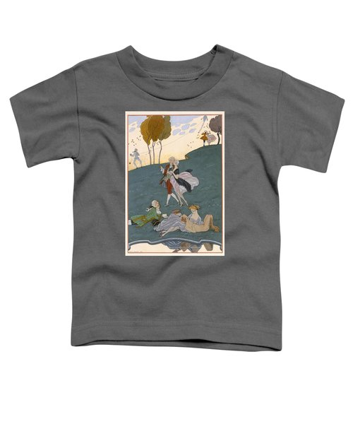 Fetes Galantes Toddler T-Shirt by Georges Barbier