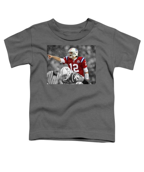 Field General Tom Brady  Toddler T-Shirt by Brian Reaves