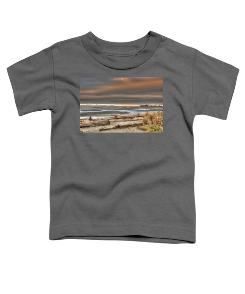 Fiery Sky Over The Salish Sea Toddler T-Shirt
