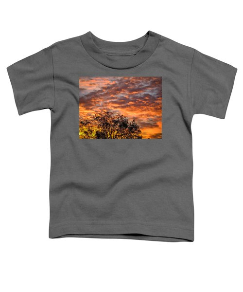 Toddler T-Shirt featuring the photograph Fiery Sunrise Over County Clare by James Truett