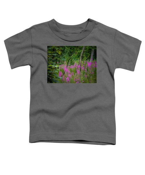 Toddler T-Shirt featuring the photograph Fireweed In The Irish Countryside by James Truett