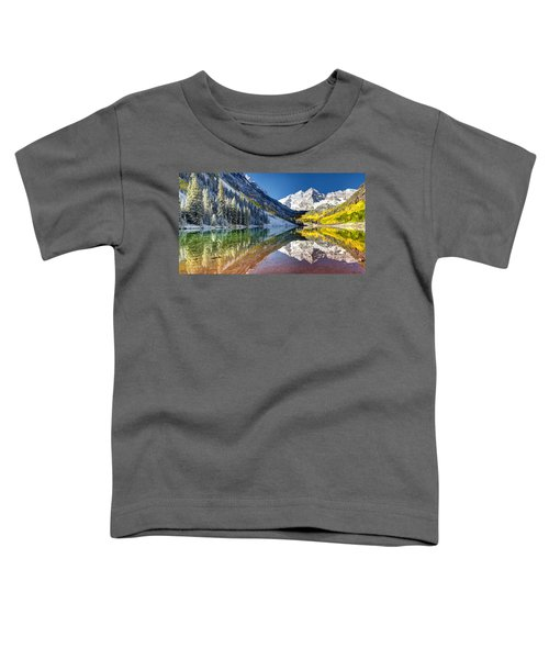 First Snow Maroon Bells Toddler T-Shirt