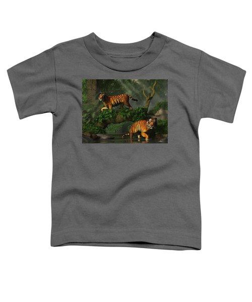 Fishing Tigers Toddler T-Shirt