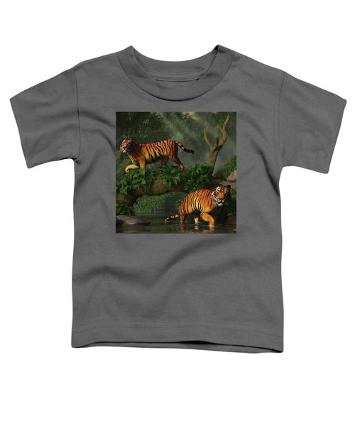 Fishing Tigers Toddler T-Shirt