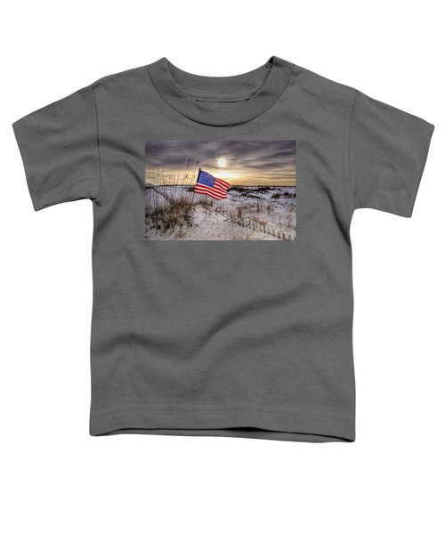 Flag On The Beach Toddler T-Shirt