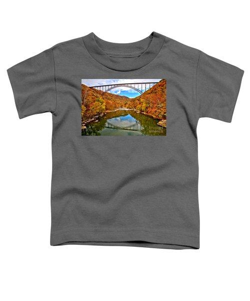 Flaming Fall Foliage At New River Gorge Toddler T-Shirt