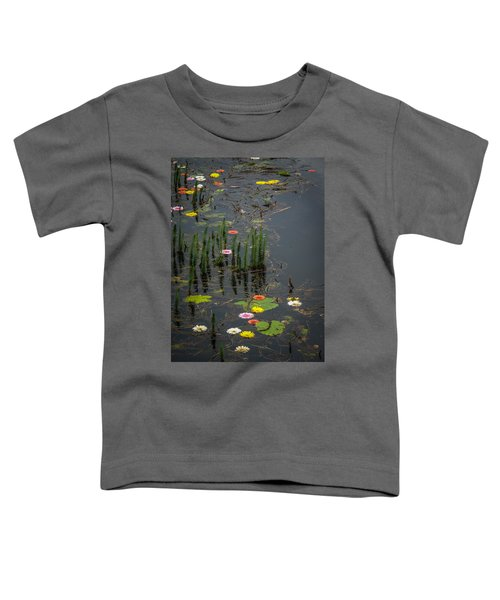 Toddler T-Shirt featuring the photograph Flowers In The Markree Castle Moat by James Truett
