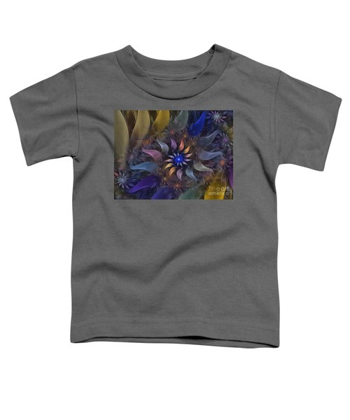 Flowery Fractal Composition With Stardust Toddler T-Shirt