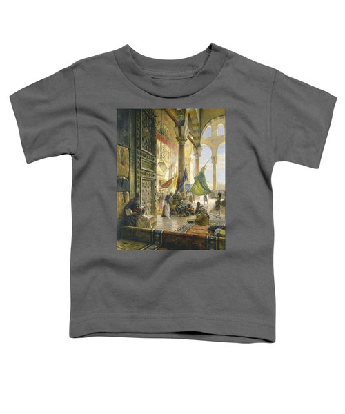 Forecourt Of The Ummayad Mosque, Damascus, 1890 Oil On Panel Toddler T-Shirt