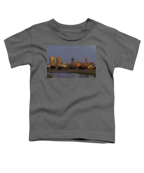 Fort Worth Skyline Golden Hour Toddler T-Shirt