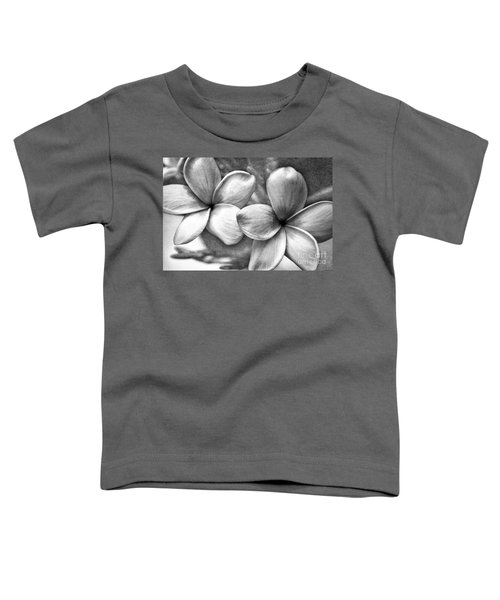 Frangipani In Black And White Toddler T-Shirt by Peggy Hughes