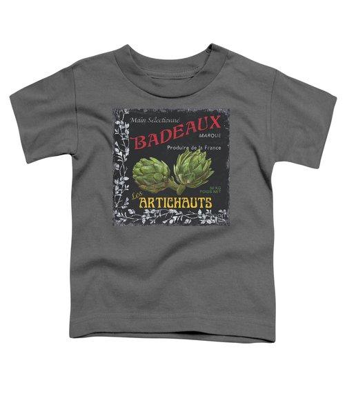 French Veggie Labels 1 Toddler T-Shirt by Debbie DeWitt