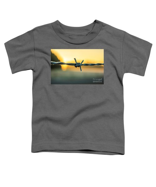 Frost On Barbed Wire At Sunrise Toddler T-Shirt