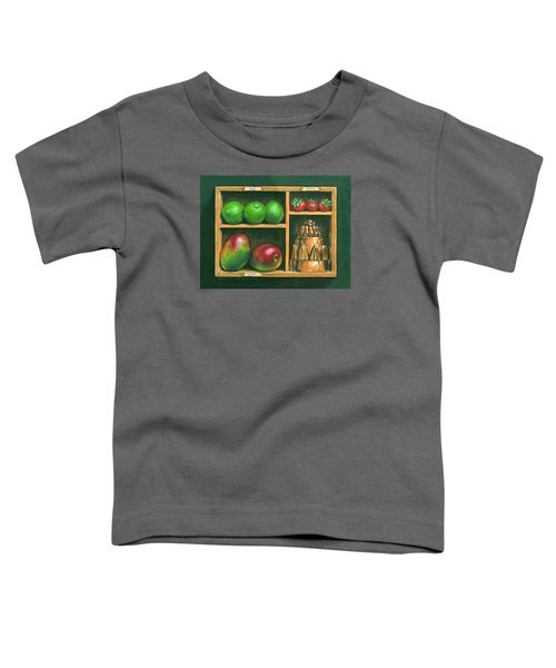 Fruit Shelf Toddler T-Shirt by Brian James