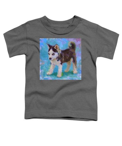 Alaskan Husky Sled Dog Puppy Toddler T-Shirt