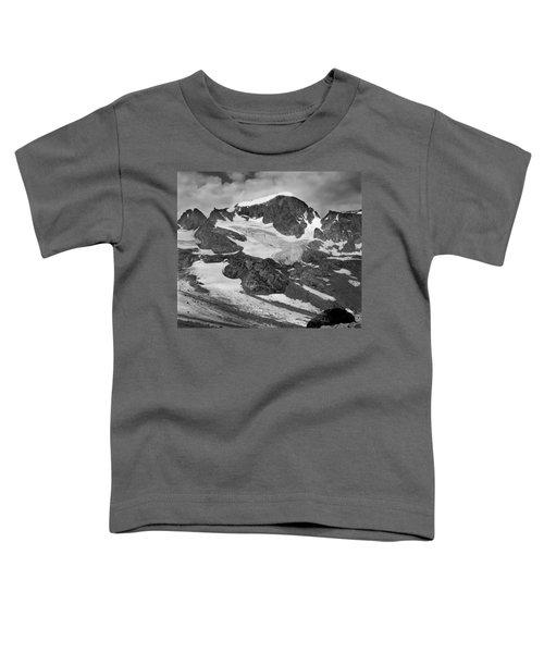 509427-bw-gannett Peak And Gooseneck Glacier, Wind Rivers Toddler T-Shirt