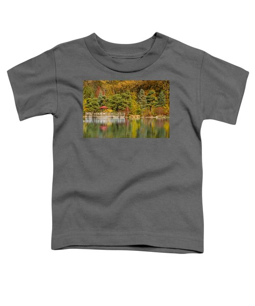 Toddler T-Shirt featuring the photograph Garden Of Reflection by Sebastian Musial