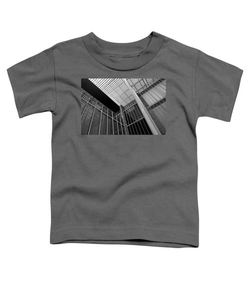 Glass Steel Architecture Lines Black White Toddler T-Shirt
