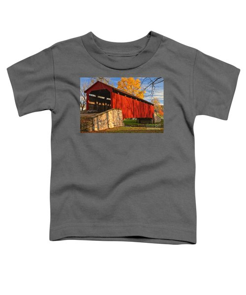 Gold Above The Poole Forge Covered Bridge Toddler T-Shirt