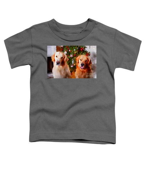 Golden Christmas Toddler T-Shirt