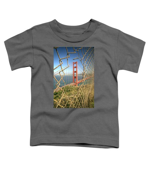 Golden Gate Through The Fence Toddler T-Shirt