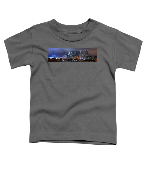 Gotham City - Los Angeles Skyline Downtown At Night Toddler T-Shirt by Jon Holiday