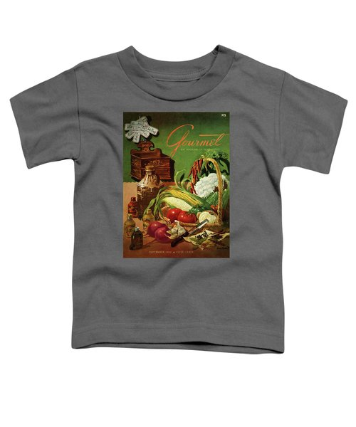 Gourmet Cover Featuring A Variety Of Vegetables Toddler T-Shirt