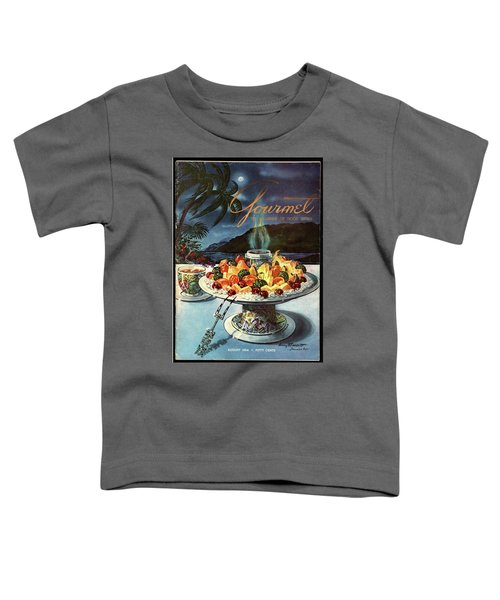 Gourmet Cover Illustration Of Fruit Dish Toddler T-Shirt