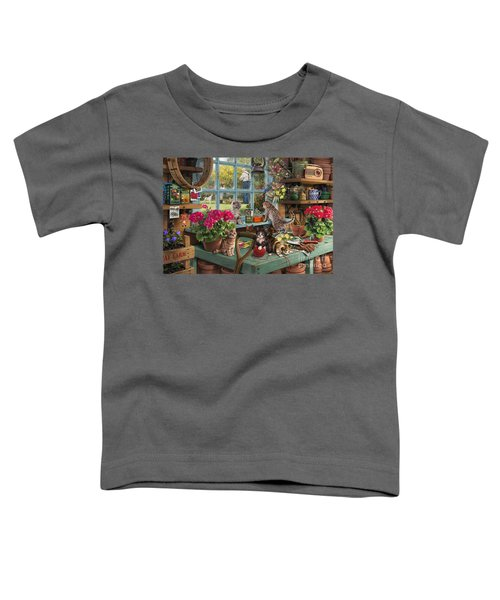 Grandpa's Potting Shed Toddler T-Shirt by Steve Read