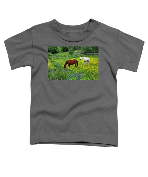 Grazing Amongst The Wildflowers Toddler T-Shirt