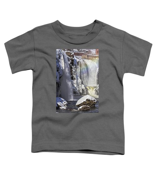 Great Falls And A Rainbow Toddler T-Shirt