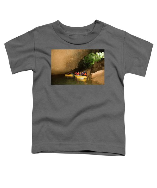 Group Of Adventure Tourists Traversing Toddler T-Shirt