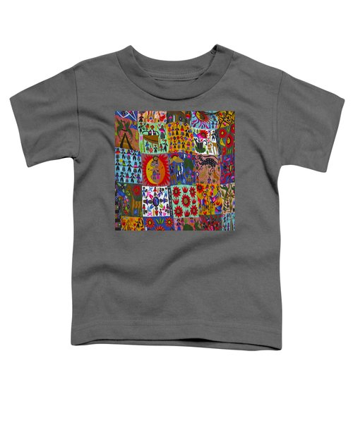 Guatemala Folk Art Quilt Toddler T-Shirt