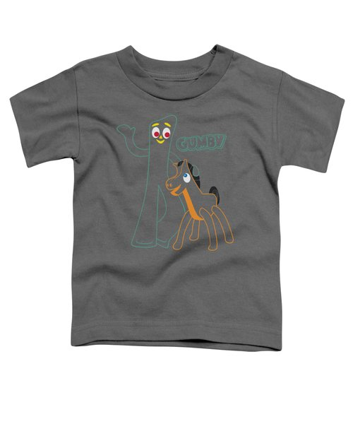Gumby - Outlines Toddler T-Shirt