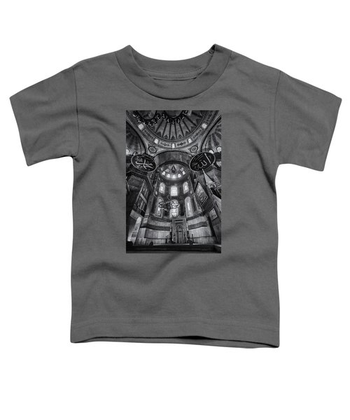 Hagia Sophia Interior - Bw Toddler T-Shirt