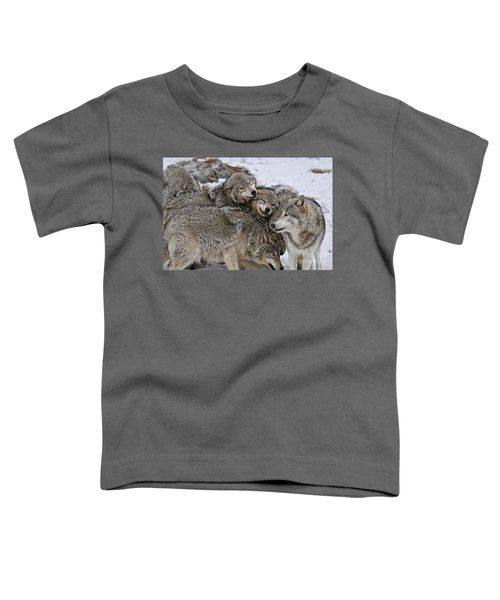Happy Wolf Pack Toddler T-Shirt