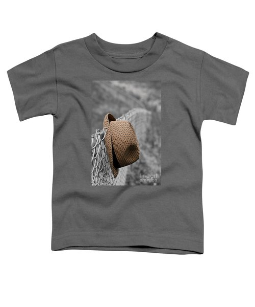 Hat On Chain Link Fence Toddler T-Shirt