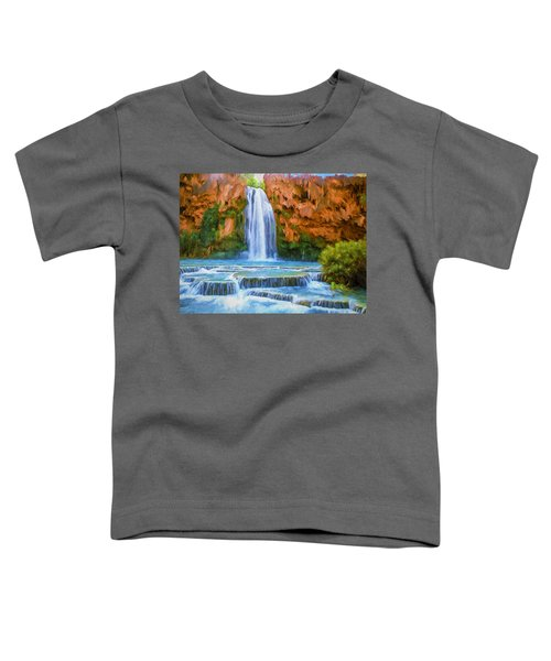 Havasu Falls Toddler T-Shirt by David Wagner