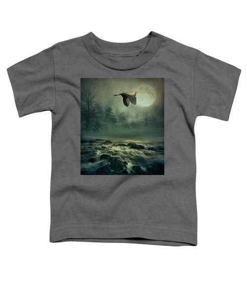Heron By Moonlight Toddler T-Shirt